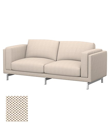Soferia - IKEA NOCKEBY Funda para sofá de 2 plazas, Nordic Creme