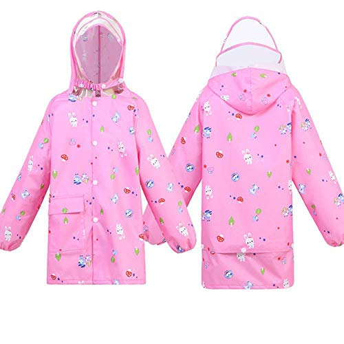 Waterproof scooter raincoat poncho suit outdoor thick children raincoat outdoor with hood, Pink,S