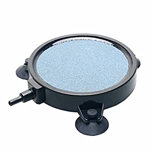Pawfly 4-Inch Air Stone Disc Bubble Diffuser with Suction Cups for Aquarium Fish Tank Pump