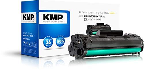 KMP Toner für HP Laserjet Pro P1102/Canon LBP-6000 - Druckkartusche Schwarz - Kompatibel - Tonerkartusche für HP 85A/Canon 725 - Office Druckerkartusche