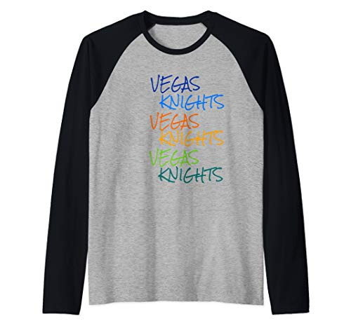 Vegas Knights VGK Colorful Rainbow Unisex/Youth T-Shirt Raglan Baseball Tee
