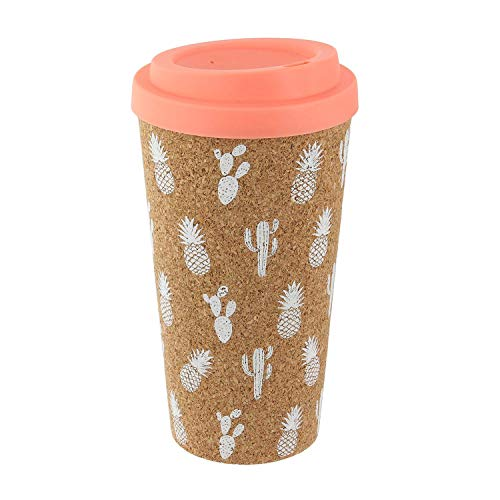 Pick and Drink Mug de Transport en liège Exotic - 450 ML - Rose Saumon