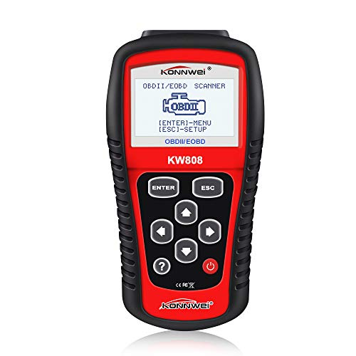 KONNWEI KW808 Auto OBDII Code Reader 2.8'Large Screen OBD2 Scanner with Full Diagnostic Scan Tool Functions Check Car Engine Light Fault Code Analyzer for All 1996 and Newer Cars with OBD II Protocol