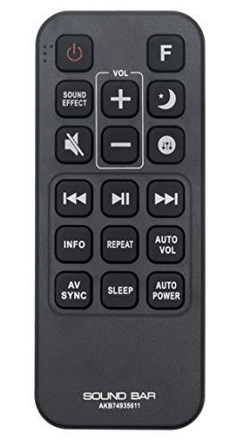 AKB74935611 Replacement Remote Control Compatible with LG Sound Bar Speaker SJ9 SJC8 SJ6B SJ8 SJ6 SPJ5-W