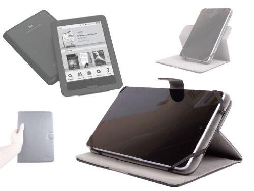 DURAGADGET Funda Rígida Atril Negra De Piel con Cierre Magnético para eBook BQ Cervantes Touch Light