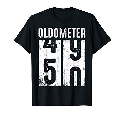 Funny Oldometer 50th Birthday T-shirt for Men