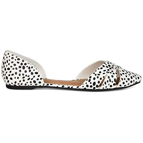 Brinley Co. Womens Crisscross Heel Cuff Flat Animal, 11 Womens US