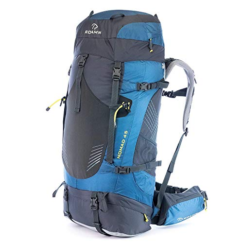 Roamm Nomad 45 Backpack - 45L Liter Internal Frame Pack - Best Bag for Camping, Hiking, Backpacking, and Travel - Men and Women