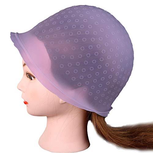 EAS Silikon-Haarfärbe- und Färbekappe, wiederverwendbar, mattiert, transparent, Haarfärbe- und Färbewerkzeug farblos