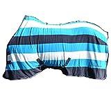 Whitaker Holywell V2 Striped Fleece Rug (5 ft 9) (Aqua/Gray/Pale Grey)