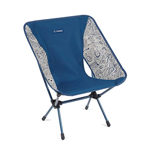 Helinox Chair One Original Lightweight, Compact, Collapsible Camping Chair, Paisley Blue