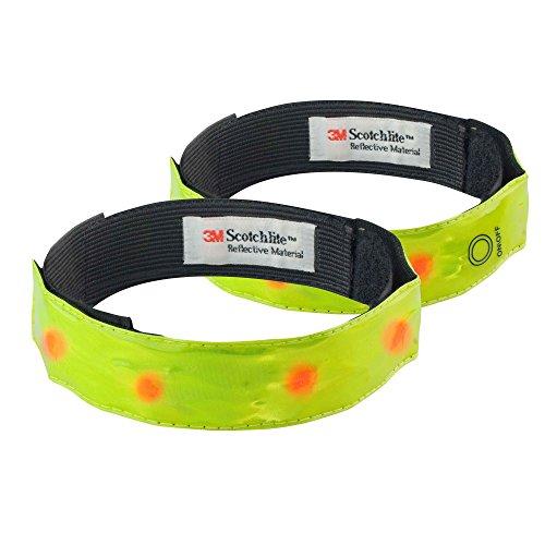 Time To Run Pack De Deux Brassards De Sécurité avec LED Réfléchissantes Haute Visibilité pour La Course Ou Le Cyclisme