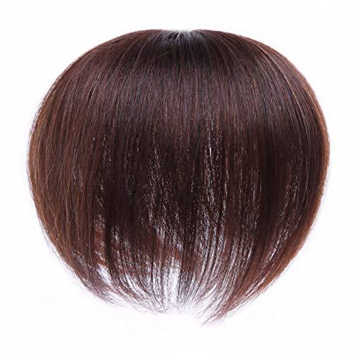 Lanbowo Toupee - Extensions de cheveux courts et raides pour homme - Pour couvrir les cheveux blancs