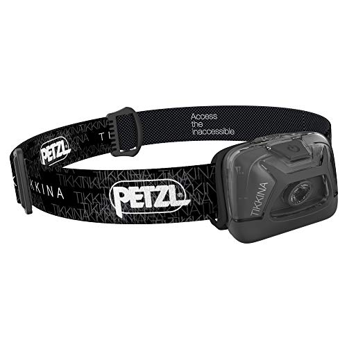 PETZL - TIKKINA Headlamp, 150 Lumens, Standard Lighting, Black