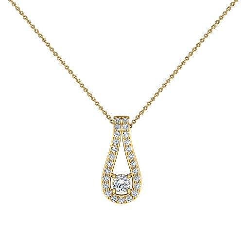 Teardrop Diamond Necklace Pendant