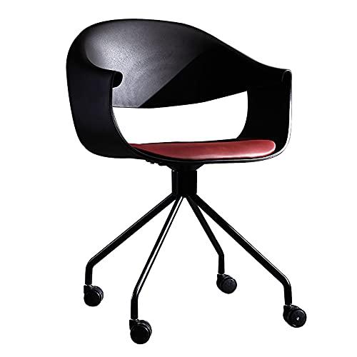 LWZ Moderner gepolsterter Akzentstuhl aus Kunstleder für das Home-Office-Arbeitszimmer Wohnzimmer Eitelkeitsschlafzimmer, 360 ° drehbarer Computertischstuhl