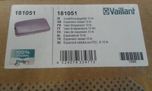 VAILLANT ECOTEC PLUS Ausdehnungsgefäß 181051, mit Sicherheitsventil 178985