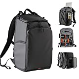 Besnfoto Small Camera Backpack Waterproof for DSLR/SLR Mirrorless Camera Women with Laptop Compartment Photographer Backpack Bag for Hiking Traveling with Rain Cover