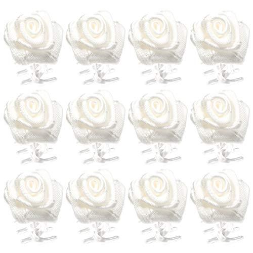 OiA Brand   12 Stück   Rosen-Haarklammern   Haarschmuck für Frauen, Kinder, Mädchen   Haarnadel   Blumen für Haarstyling