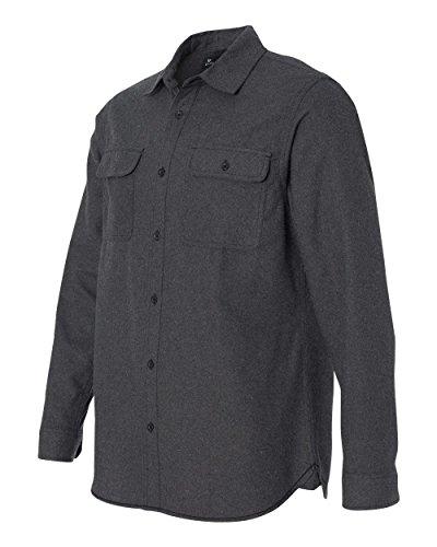 Burnside B8200 - Solid Long Sleeve Flannel Shirt Charcoal