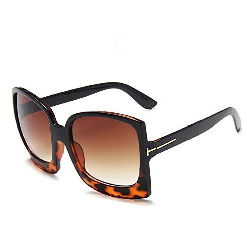 YTYASO Gafas de Sol de Gran tamaño para Mujer Gafas de Sol gradiente de Montura Grande UV400