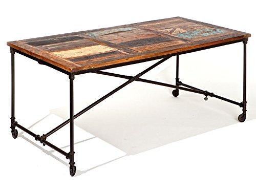 Links 85300580 Coffee Table Métal Bois Mango Rouille 90 x 180 x 77 cm