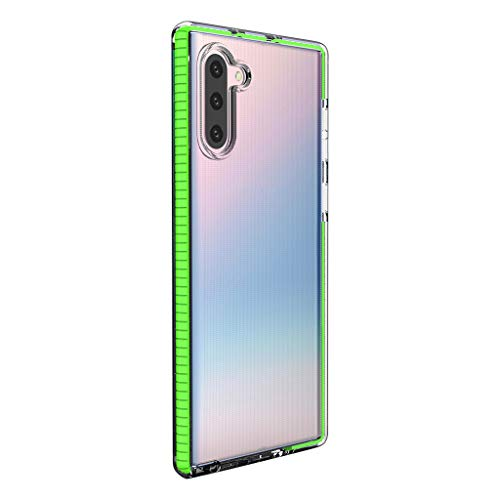 Neon Softshell-HandyhüLle Sicherheit Schutz TPU Fall UltradüNn Intelligent Handy SilikonhüLle Fingerabdruck HandyhüLle Transparent SilikonhüLle Case für Samsung Galaxy Note10+