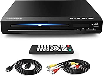 DBPOWER DVD Player for TV Home DVD CD Player with HD 1080p Upscaling HDMI & AV Output  HDMI & AV Cable Included  All-Region Free Coaxial Port USB Input Remote Control Included