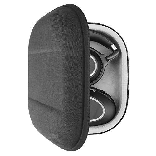 Geekria UltraShell hoofdtelefoonhoesje voor Sony WH1000XM2, WH1000XM3, WH-XB900N, MDR1000X koptelefoon en meer - vervangende beschermende harde schelp reistas met ruimte voor accessoires (donkergrijs)
