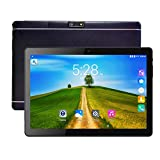 Tablet PC, Veidoo 10.1' Inch Tablet, HD Screen, IPS Display, Dual Camera, Android, WiFi/GPS/OTG, 3G Phablet with Dual Sim Card Slots, 1GB Memory, 16GB Storage, Ideal Gifts (Black)