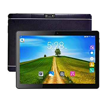 Tablet PC Veidoo 10 Inch Android Tablet 10.1 inch IPS Screen Dual Camera WiFi/GPS/OTG/Bluetooth 3G Phone Call Dual SIM Card Slots 1GB RAM 16GB Storage 5000mAh Battery  Black