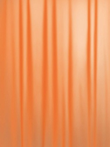 Spirella True Frosty Orange Naranja Cortina de Ducha 180x200 cm.