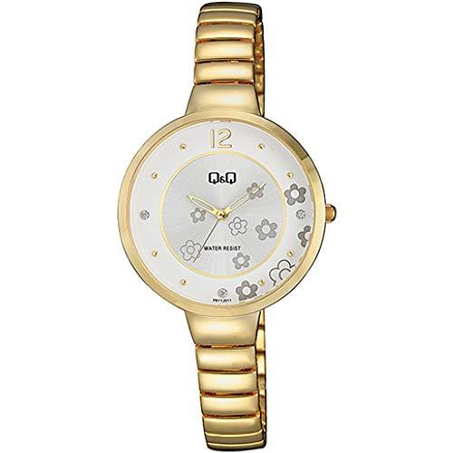 Q&Q Reloj de mujer Fashion F611J011Y estándar analógico de cuarzo japonés movimiento