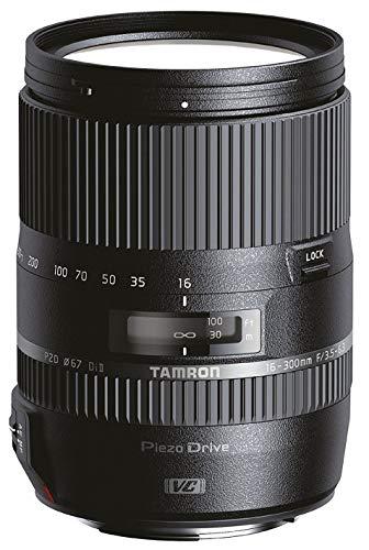 Tamron AF 16-300 mm F/3.5-6.3 Di II PZD Macro - Objetivo para Sony (Distancia Focal 16-300mm, Apertura f/3.5-6.3, Zoom óptico 18.75x, Motor de Enfoque, Macro, Filtro: 67mm) Negro