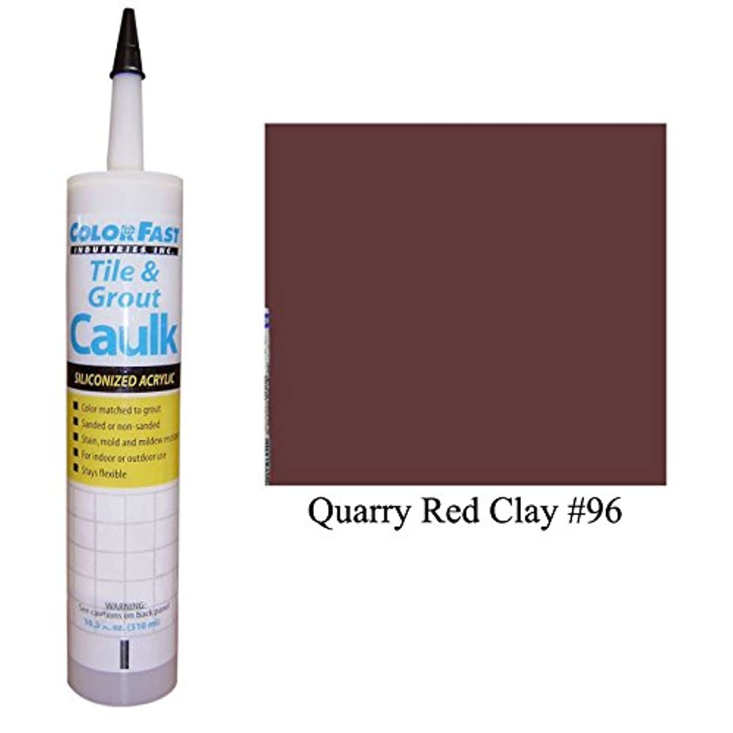 Color Fast Caulk Matched to Custom Building Products (Quarry Red Clay Sanded)