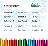 LALALO Kinderschürze Bestickt mit Namen Kochschürze, Küchenschürze Grillschürze Basteln Malschürze Kochen Garten Werken Schule (Kinder Schürze 7-10 Jahre, Rot) - 3