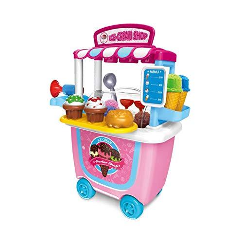 Spielhaus Kleinen Supermarkt Spielzeug Trolley Warenkorb Barrel Grill BBQ Trolley Geburtstag...