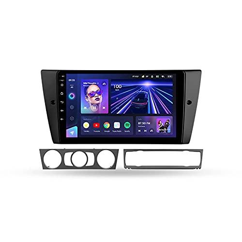 ADMLZQQ Android 10.0 Estéreo Automóvil 9'' Carplay Radio para BMW 3-Series 2005-2013,Soporte BT WiFi Mandos De Volante Cámara Trasera Enlace Espejo 3D Dinámica De Conducción En Tiempo Real,Cc3,4+64G