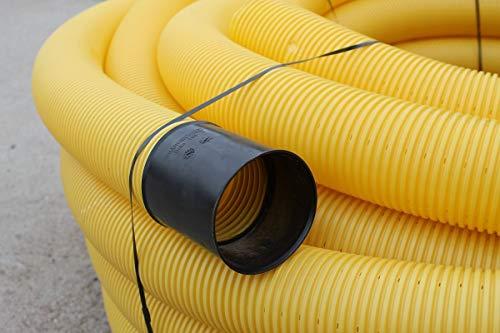Doubleyou Geovlies & Baustoffe 10 Meter Drainagerohr DN 80 gelb gelocht …