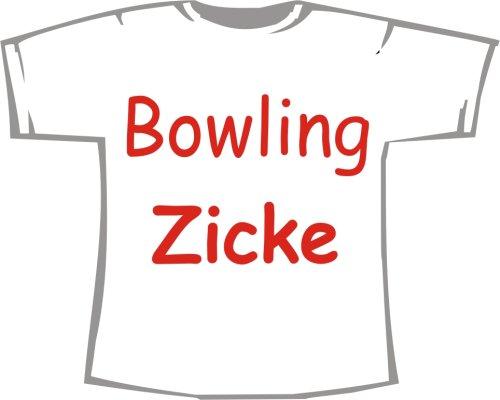 Bowling Zicke; T-Shirt weiß, Gr. 4XL; Unisex