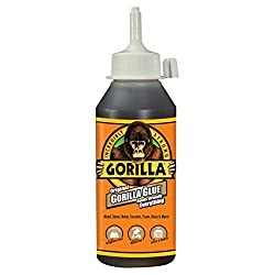 commercial Gorilla 5002801 Original Waterproof Polyurethane Adhesive, 8 oz Bottle, Brown (1 Pack) glue for sandals