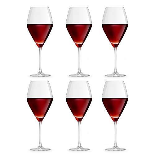 Libbey Copa de Vino Iduna 59 cl/590 ml - Set de 6 Unidades – diseño Elegante Apta para el lavavajillas