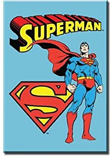(2x3) Superman Retro Vintage Locker Refrigerator Magnet by Poster Revolution