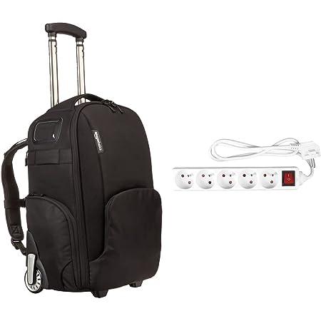 Amazon Basics Sac à dos convertible à roulettes pour appareil photo & Expert Line 486971 Bloc 5 prises ,16A + Interrupteur - 3G1mm2 - Blanc