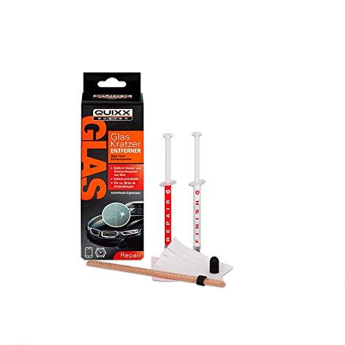 Quixx 50259 Glas Kratzer-Entferner | Glas Kratzer Entferner | Glas Reparatur | Kratzer Windschutzscheibe entfernen