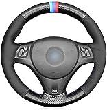Coche Piel Volante Fundas para BMW (M Sport) 1er E87/ E81/ E82 (Coupe)/ E88 (Cabrio)/ M E82/ 3er E90 (Sedan)/ E91 (Touring)/ E92 (Coupe)/ E93/ X1 E84/ M3 E90 (Sedanan))/ E92 (Coupe)/E93