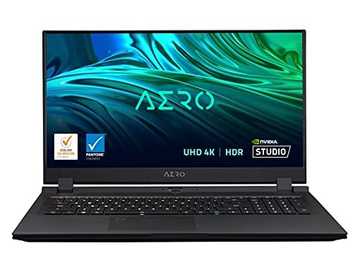 "GIGABYTE AERO 17 HDR YD - 17.3"" UHD 4k IPS 300Hz, Intel Core i9, NVIDIA GeForce RTX 3080 Laptop GPU 8GB GDDR6, 32GB RAM, 512GB SSD+1TB SSD, Win10 Pro, Creator&Gaming Laptop(AERO 17 HDR YD-93US548SP)"