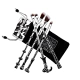 5 Pcs pinceles cepillos maquillaje cosmética Magic Harry Potter Collection regalo (Plateado)