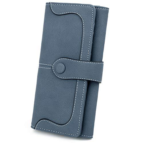 UTO Damen RFID Lange Brieftasche 18 Kartensteckplätze Kartenhalter 5,5