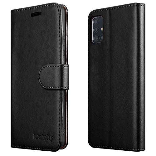 iCatchy For Samsung Galaxy A51 Case Leather Wallet Book Flip Folio Stand...
